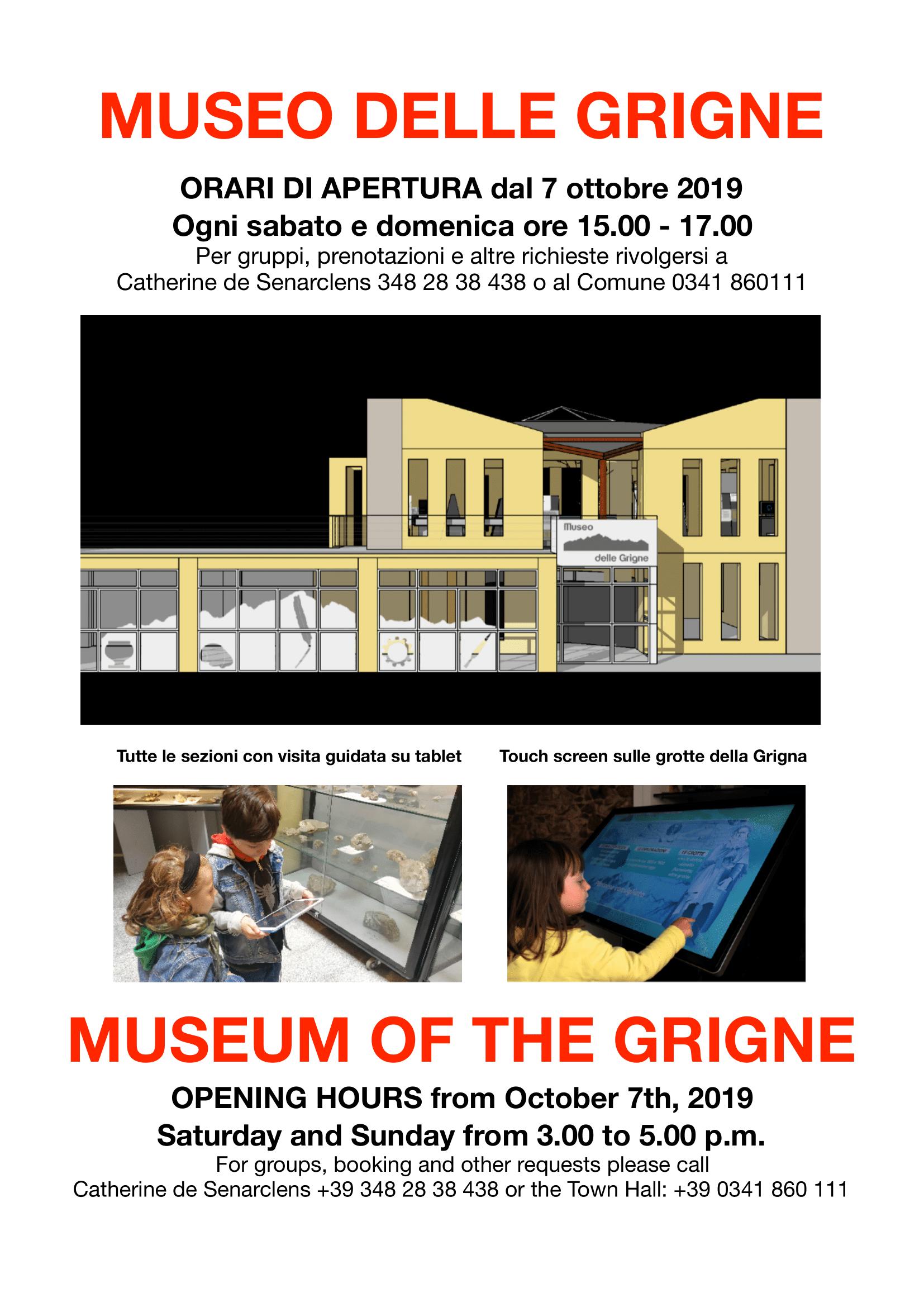 ORARI MUSEO dal 7 ottobre 2019